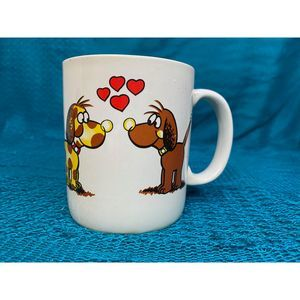 Dog in love vintage Mug